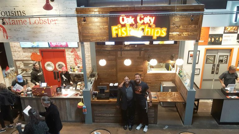 Oak City Fish & Chips father and son