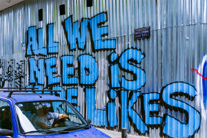 "Social Media Home Business ""All we need is more likes"" on wall"